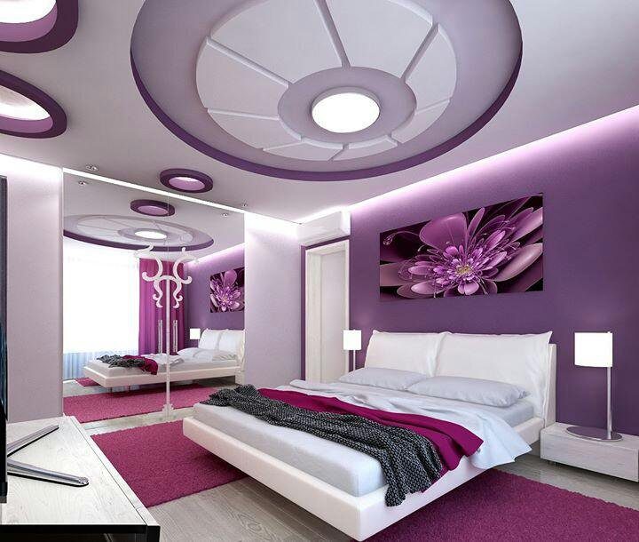 صور ديكور جبس غرف نوم رومانسية