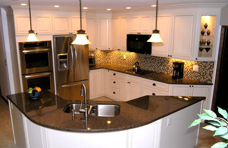 مطبخ امريكي صغير مفتوح على الصالة