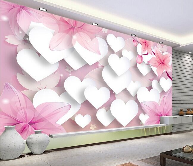 ورق جدران غرف نوم ثلاثي الأبعاد