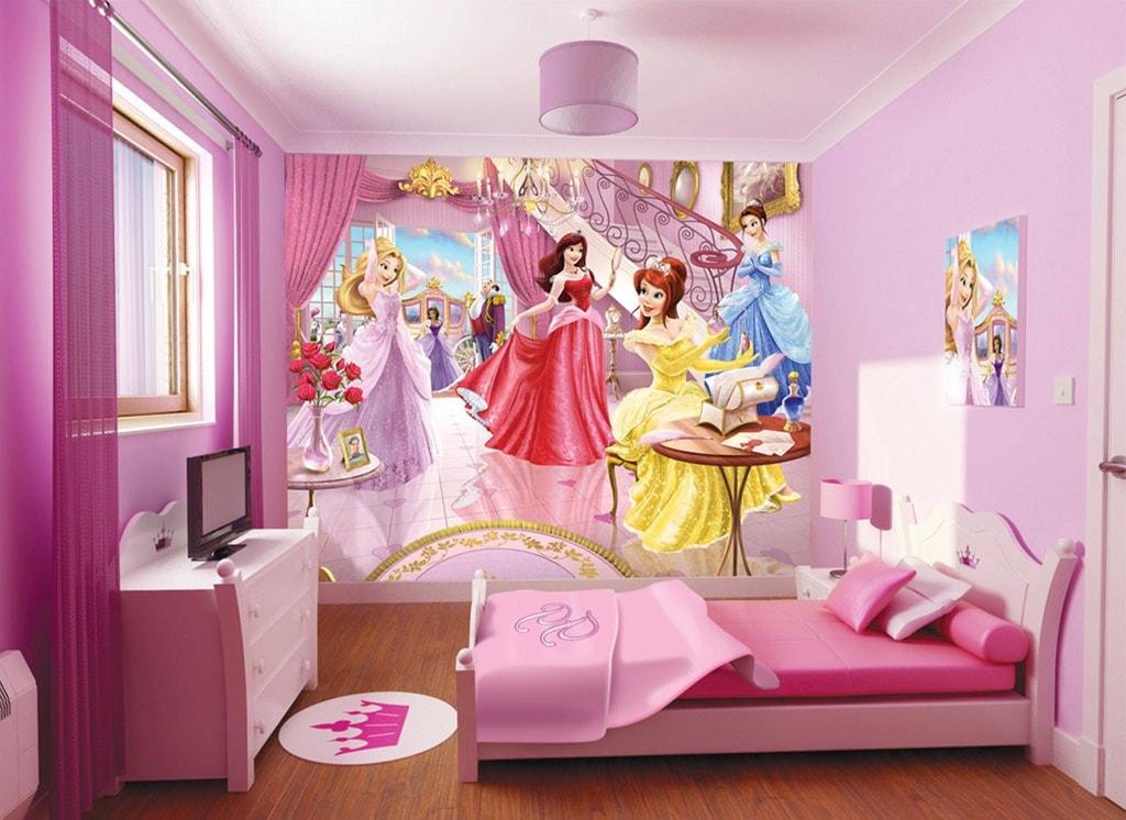 ورق جدران غرف نوم بنات