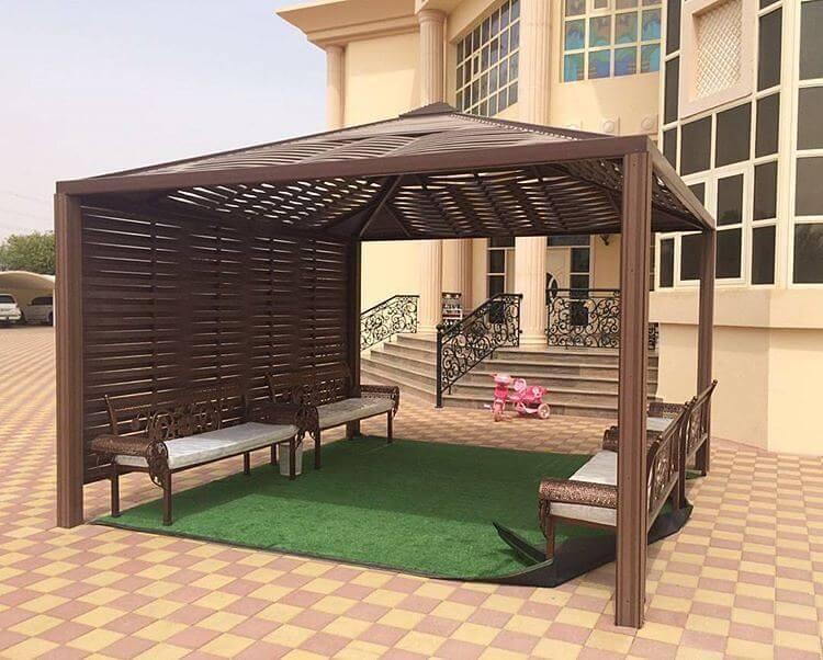 تصاميم مظلات حدائق خشبية (2)
