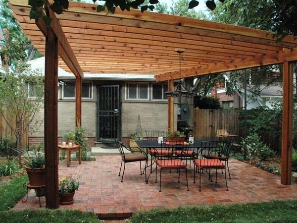 تصاميم مظلات حدائق خشبية