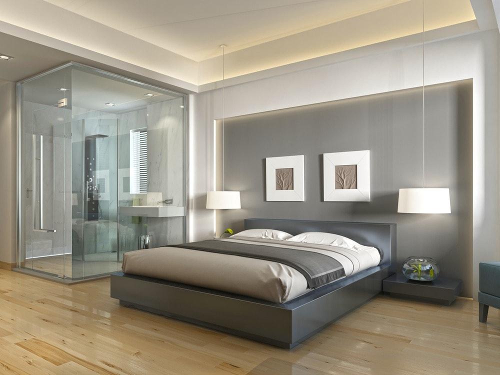 حمامات زجاج داخل غرف النوم (2)
