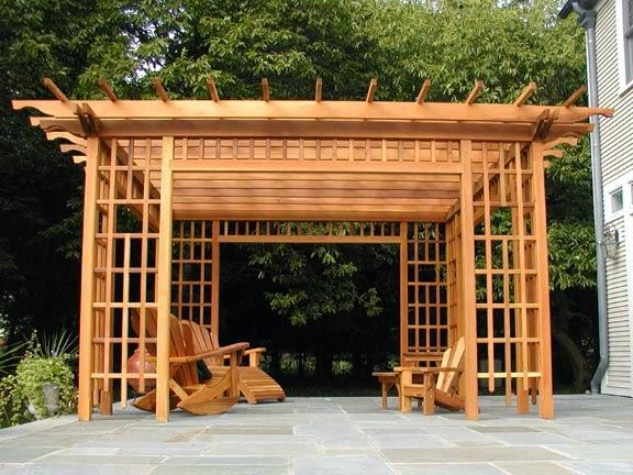 مظلات حدائق خشبية (1)