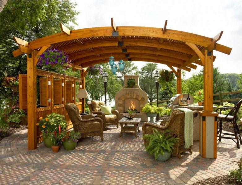مظلات حدائق خشبية (2)