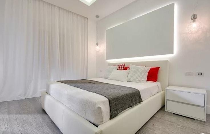 ديكور جبس خلف السرير