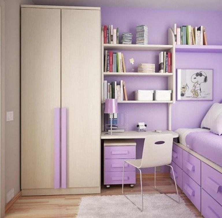 غرف اطفال باللون البنفسجي