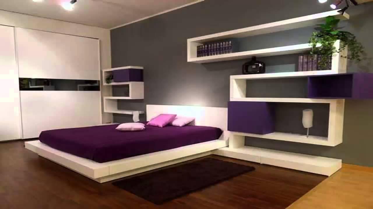 غرف نوم جذابة باللون الموف و الرمادي ديكورموز