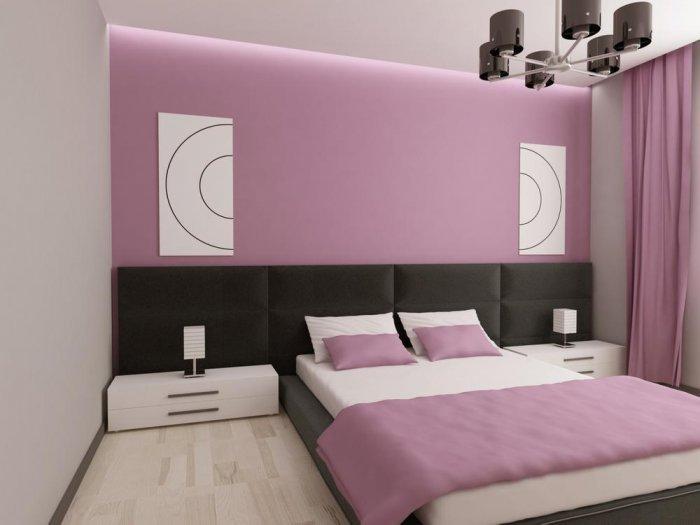 غرف نوم وردي ورمادي