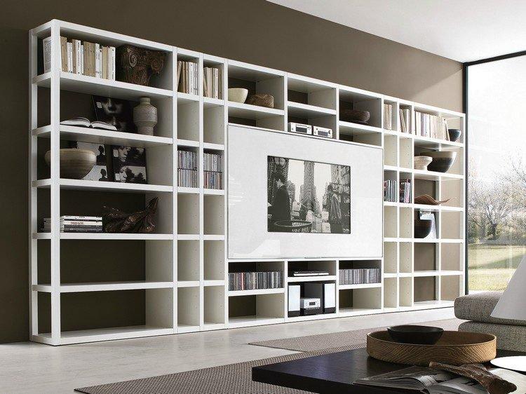 مكتبات حائط للتليفزيون (1)