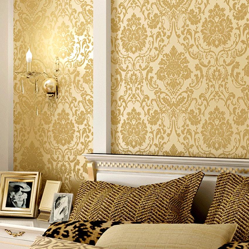 دهانات حوائط باللون البيج والذهبي (1)