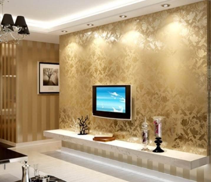دهانات حوائط باللون البيج والذهبي (2)