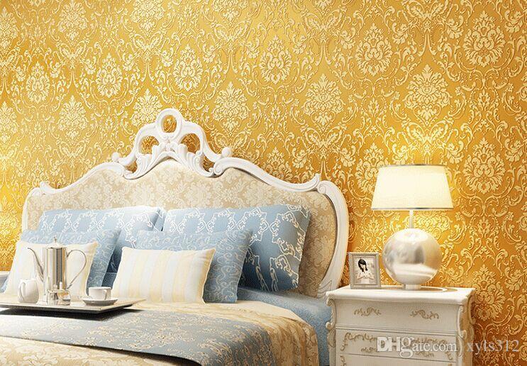 دهانات حوائط باللون البيج والذهبي (3)
