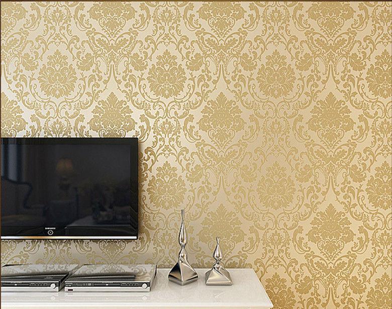 دهانات حوائط باللون البيج والذهبي (4)