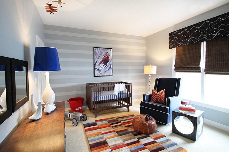دهانات حوائط باللون الرمادي والفضي (3)