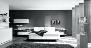 غرف نوم باللون الاسود والفضي (1)