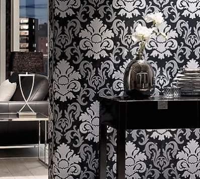 غرف نوم باللون الاسود والفضي (3)