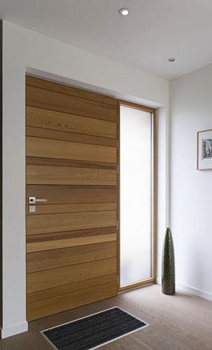 ابواب شقق خشبية خارجية (2)