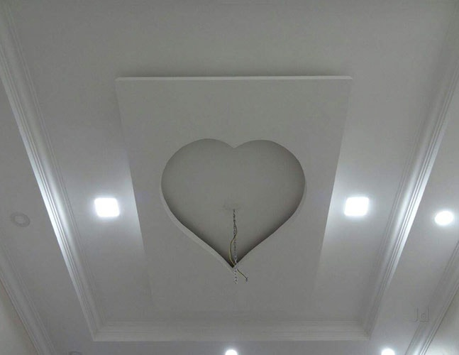 جبس غرف النوم على شكل قلب (4)