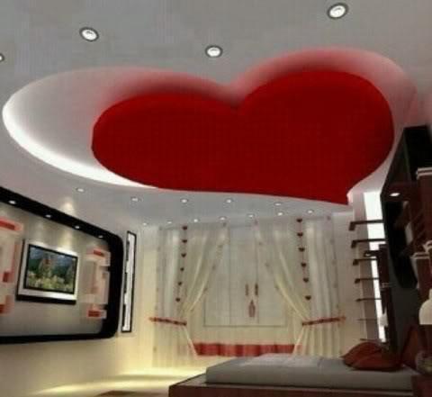 جبس غرف النوم على شكل قلب (5)