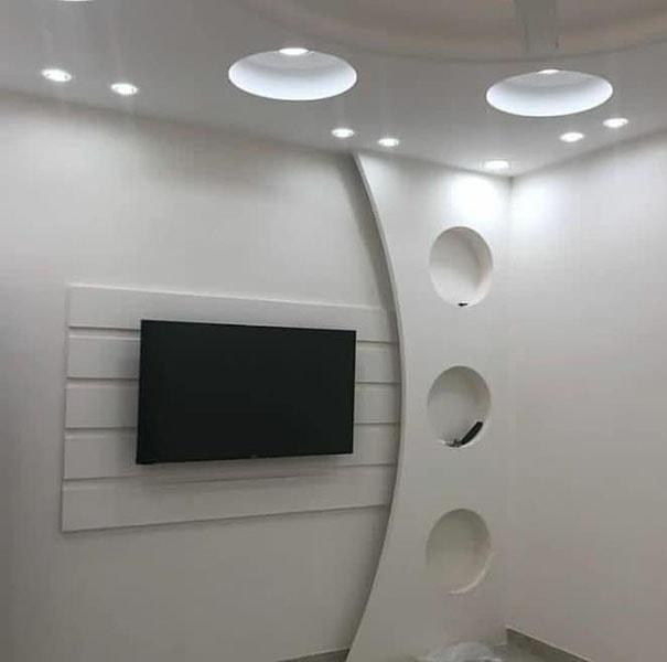 ديكورات شاشات بلازما بالجبس (1)