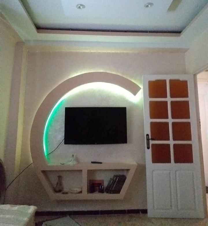 ديكور شاشات بلازما بالجبس مع أضواء (3)