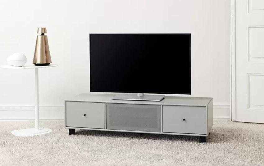 طاولة تلفزيون حديثة ذات أدراج سفلية